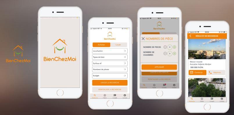 BienChezMoi développée par TGW Digital, agence de développement d'application