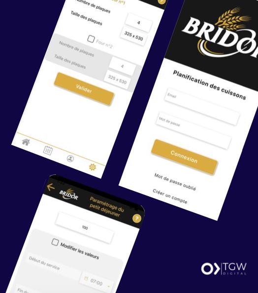BRIDOR développée par TGW Digital, agence de développement d'application