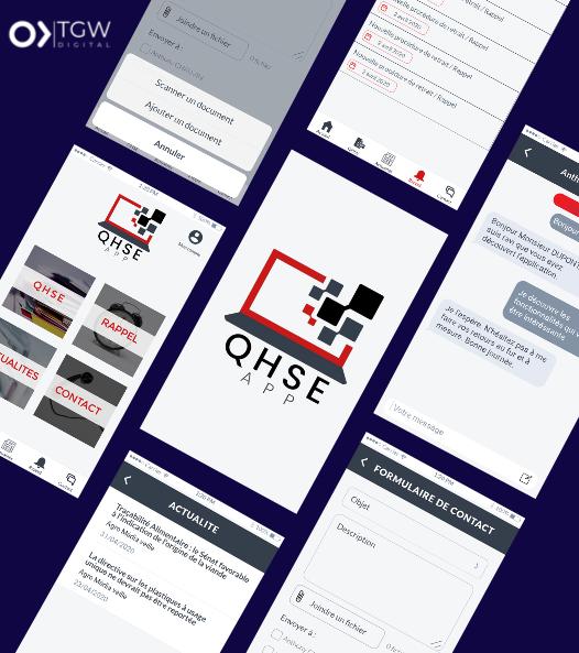 QHSE développée par TGW Digital, agence de développement d'application