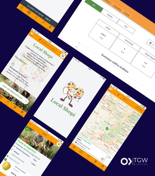 LocalShopi développée par TGW Digital, agence de développement d'application